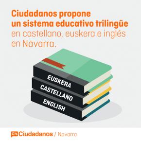 Ciudadanos Navarra apuesta por una educación no excluyente y trilingüe