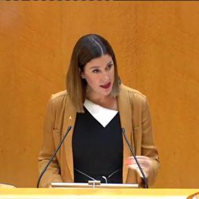 """Ruth Goñi: """"Cs se opone a que el Gobierno de País Vasco utilice EiTB para seguir difundiendo su discurso nacionalista y anexionista con la complacencia del Gobierno de Navarra"""""""